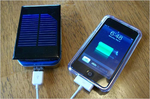 MightyMintyBoost Solar iPhone and iPod Touch Charger