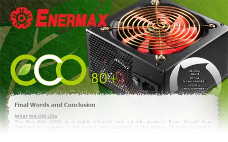 Enermax 80-Plus PSU Review - DriverHeaven