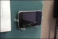 iPhone Mount Made of Tacks