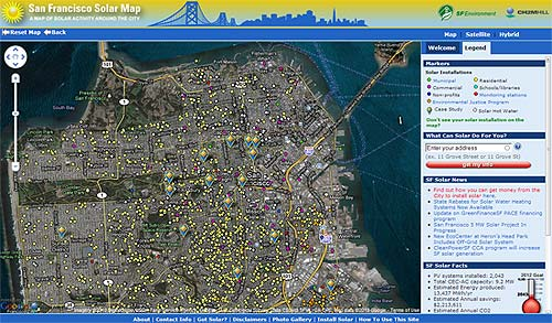 "Cities rolling out ""Google Maps for solar"""