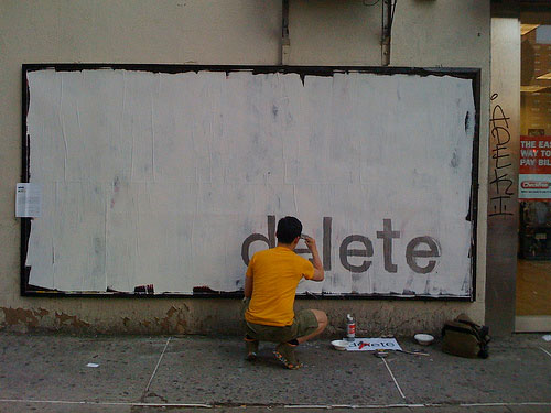 Delete billboard by Ji Lee image - Flickr user Barry Hoggard - CC