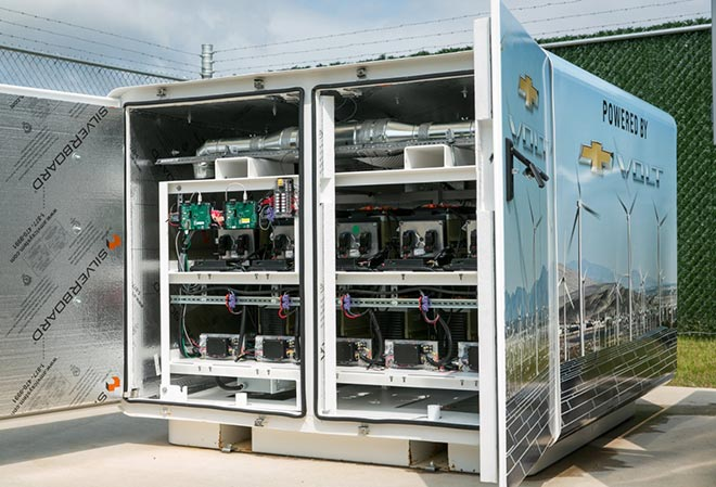 Used Chevy Volt batteries help provide power for GM data center