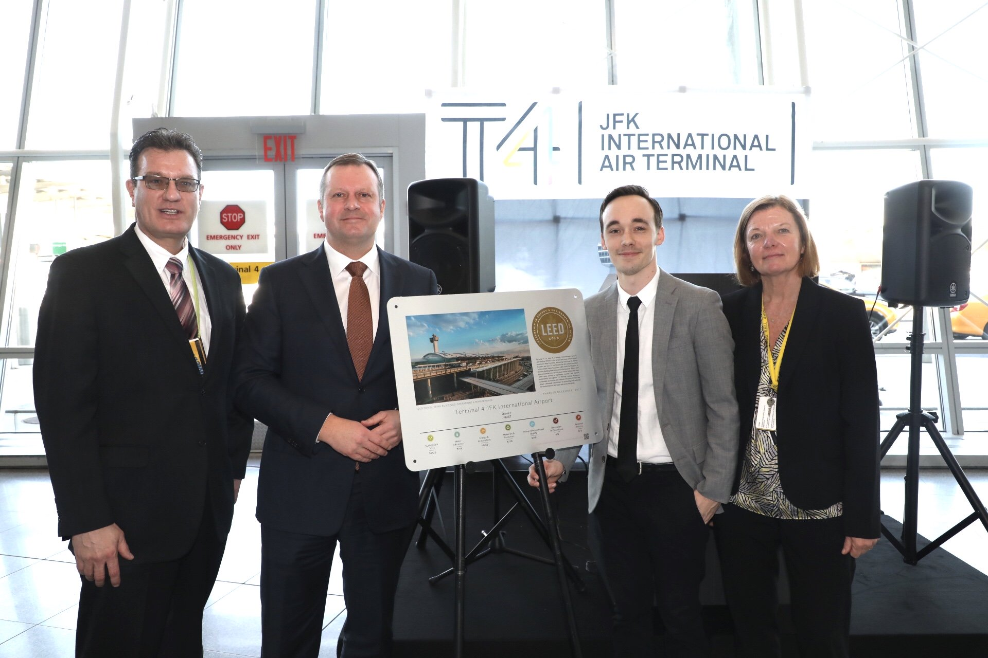 JFK Airport Terminal 4 is LEED Gold certified